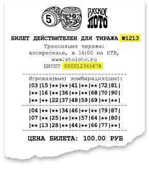 Ellenőrizze az Orosz Lotto jegyet szám szerint